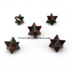 Blood Agate Merkaba Star