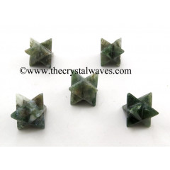 Moss Agate Big Merkaba Star
