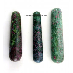 Ruby Zoisite Smooth Massage Wands