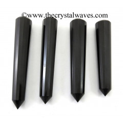 Black Agate Faceted Masssage Wands