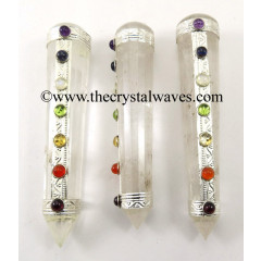 Crystal Quartz Chakra Massage Wands