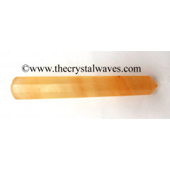Orange Selenite Faceted Massage Wands
