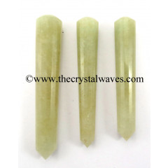 Prasiolite Faceted Massage Wands