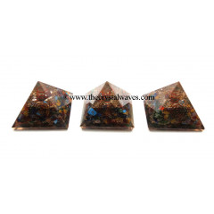 Chakra Orgone Pyramids With Copper Wrapped Crystal Point