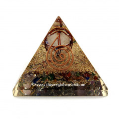 Chakra Orgone Pyramids With Copper Wrapped Crystal Quartz Merkaba