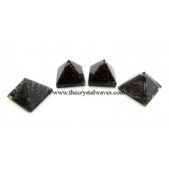 Black Tourmaline Small Orgone Pyramid