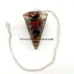 Chakra Faceted Pendulum
