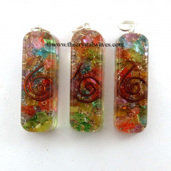 Chakra Orgone Rectangle Shape Pendants