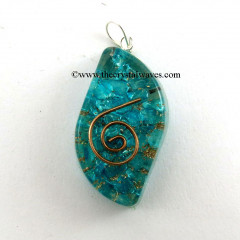 Blue Orgone Eye Shape Pendants