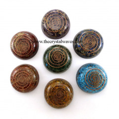 Orgone Dome/ Paper Weight Chakra Set
