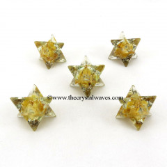 Yellow Aventurine Orgone Merkaba / Star