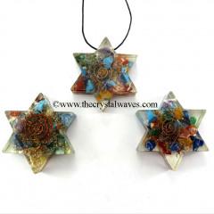 Chakra Orgone Star Pendant