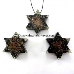 Black Tourmaline Orgone Star Pendant