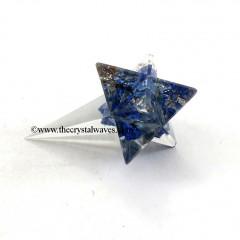 Lapis Lazuli Elongated Orgone Merkaba / Merkaba Angel Stick