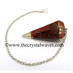 Red Jasper Chips Orgone Faceted Pendulum