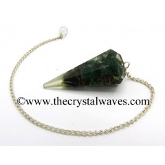 Green Aventurine Chips Orgone Faceted Pendulum