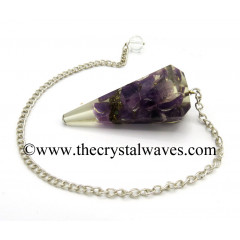 Amethyst Chips Orgone Faceted Pendulum
