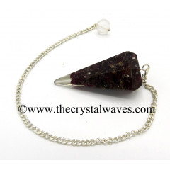 Garnet Chips Orgone Faceted Pendulum