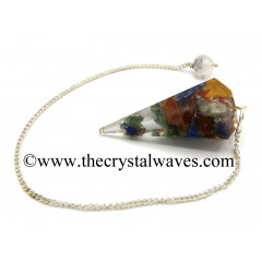 Chakra Chips Orgone Faceted Pendulum