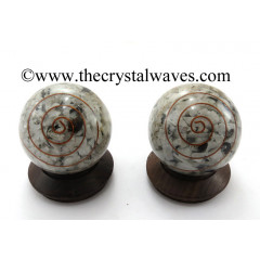 Rainbow Moonstone Chips Orgone Ball / Sphere