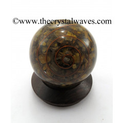 Tiger Eye Agate Chips Orgone Ball / Sphere