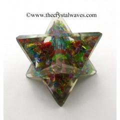 Chakra Chips (Dyed Crystal Quartz) Orgone Big Merkaba