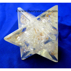 Crystal Quartz Chips Orgone Big Merkaba