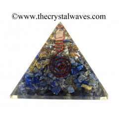 Lapis Lazuli Chips Orgone Pyramids With Copper Wrrapped Crystal Point