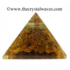Camel Jasper Chips Orgone Pyramids With Copper Wrrapped Crystal Point