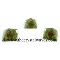 Peridot Chips Orgone Small Baby Pyramids
