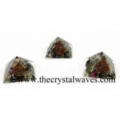 Multi Tourmaline Chips Orgone Small Baby Pyramids