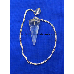 Crystal Quart Faceted Pendulumn