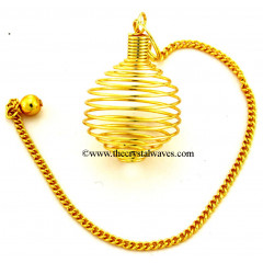 Golden Spiral Cage Metal Pendulum