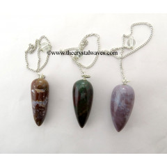 Fancy Jasper Smooth Pendulum