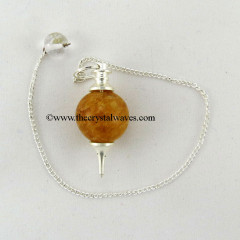 Yellow Aventurine  Round Pendulum