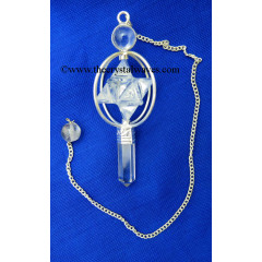 Crystal Quartz 3 Piece Merkaba Pendulumn