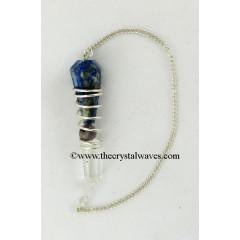 Lapis Crystal 3 Piece Wrapped Pendulum