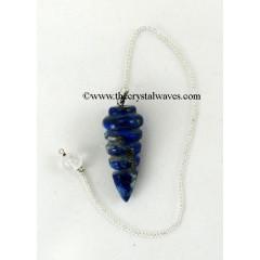 Lapis Lazuli Spiral Disc Pendulum