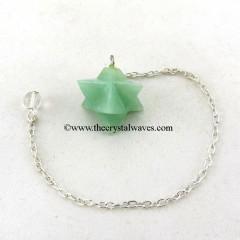 Green Aventurine Merkaba / Star Pendulum
