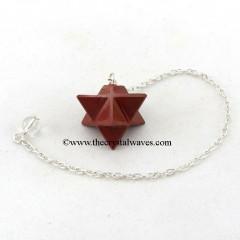Red Jasper Merkaba / Star Pendulum