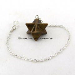 Tiger Eye Agate Merkaba / Star Pendulum