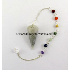 Iolite Faceted Pendulum With Chakra Chain