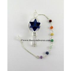 Lapis Lazuli 3 Pc Merkaba Pendulum With Chakra Chain