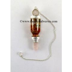 Rose Quartz 3 Pc Pendulum With Bottled Chakra Chips