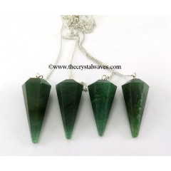 Gree Aventurine (Dark) Faceted Pendulum