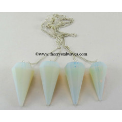 Opalite Faceted Pendulum