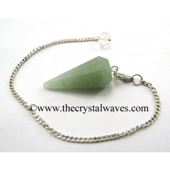 Green Aventurine Faceted Pendulum