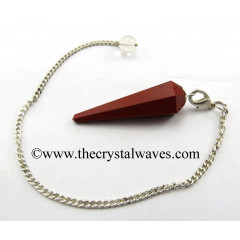Red Jasper Faceted Pendulum