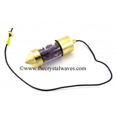 Purple Dyed Quartz Chips Bottle Pendulum