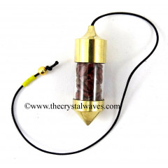 Red Jasper Chips Bottle Pendulum